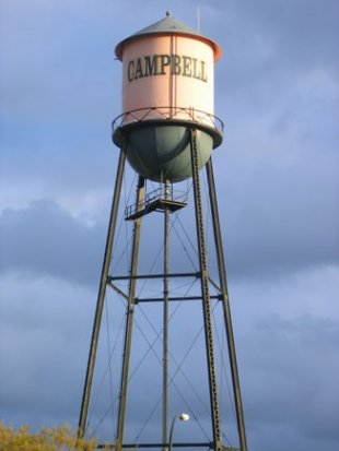 Campbell Water Tower- (medium sized photo)