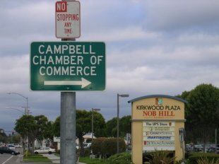 Campbell Chamber of Commerce Sign- (medium sized photo)
